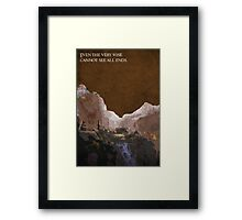 The Fellowship of the Ring inspired design (2). Framed Print