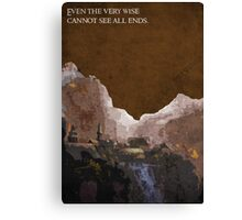The Fellowship of the Ring inspired design (2). Canvas Print