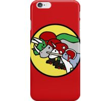 Horned Warrior Friends ROLLER DERBY (Unicorn, Narwhal, Rhino, Triceratops) iPhone Case/Skin