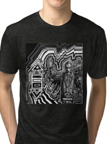 Vincent Christ plays the theremin and discovers time travel Tri-blend T-Shirt