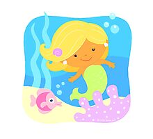Mia the Mermaid Photographic Print