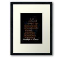 Eternity Klaine x Framed Print