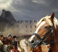 Barbet Art - Napoleon at the Parade in the Court of the Tuileries Palace Sticker