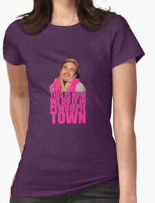 Pewdiepie Town Womens Fitted T-Shirt