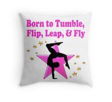 PRECIOUS PINK GYMNASTICS DESIGN Throw Pillow