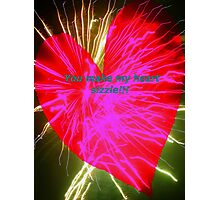 Sizzling love Photographic Print