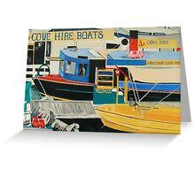 Boats For Hire, Sanctuary Cove Marina, Gold Coast Australia Greeting Card