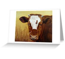 Rusty Red Calf Greeting Card