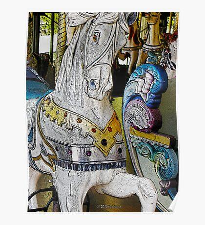 Wooden Horse Golden Gate Park Carousel Poster