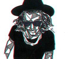 3D Geometric Harry Styles by Rosie Jo