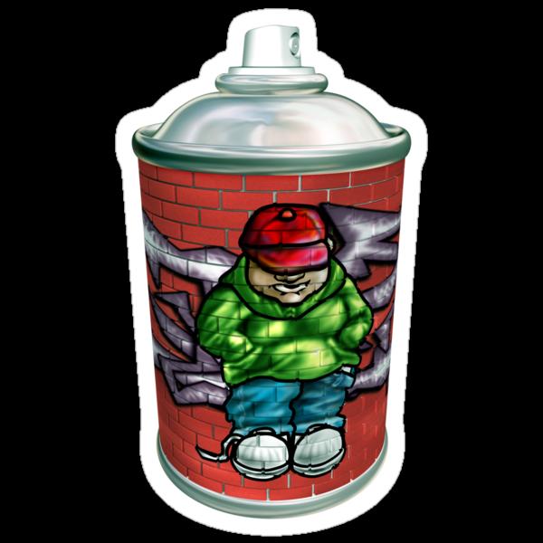 Graffiti art aerosol can by Paul Fleet