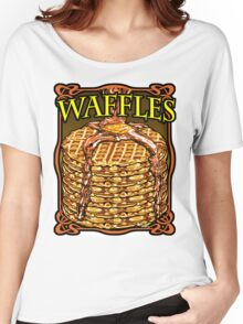 WAFFLES!! Women's Relaxed Fit T-Shirt