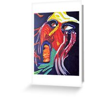 Abstract Face Two Greeting Card