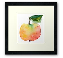 fresh useful eco-friendly apple vector illustration Framed Print