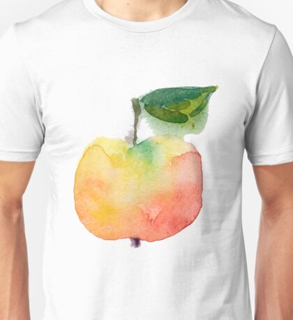 fresh useful eco-friendly apple vector illustration Unisex T-Shirt
