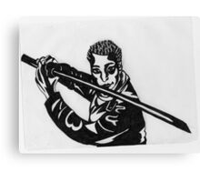 Man Holding Kendo Sword Canvas Print