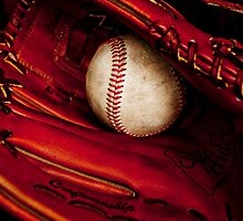 Baseball glove and ball by Stephen Knowles