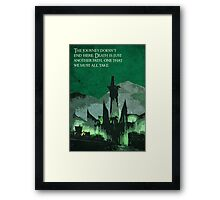 The Return of the King inspired design (2). Framed Print
