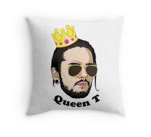 Queen T - Black Text Throw Pillow