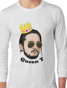 Queen T - Black Text Long Sleeve T-Shirt