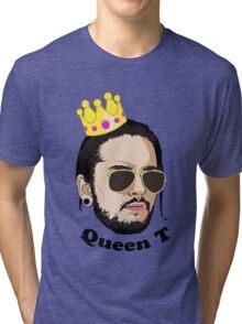 Queen T - Black Text Tri-blend T-Shirt