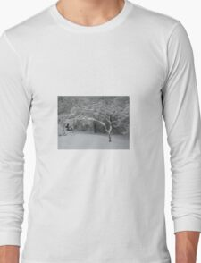 Bent Tree in the Snow Long Sleeve T-Shirt