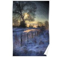 Sunset On The Chestnuts Snow Poster