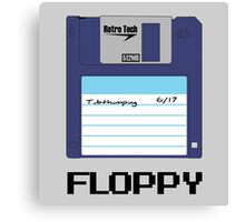 Tech Fashion - Floppy Disk - 90's Retro Canvas Print