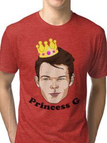 Princess G - Black Text Tri-blend T-Shirt