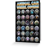Animal Car Wheel Covers Greeting Card