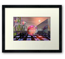 Mandelbrot planets Framed Print