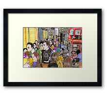 Crowded Oxford Street Framed Print