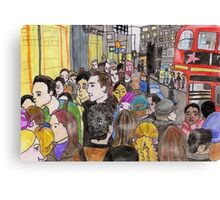 Crowded Oxford Street Canvas Print