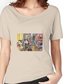 Crowded Oxford Street Women's Relaxed Fit T-Shirt