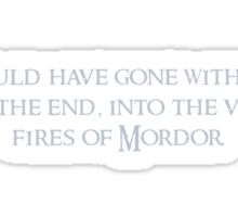 The Fellowship of the Ring inspired design (3). Sticker