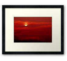 Red Sky at Night, Sailors Delight Framed Print