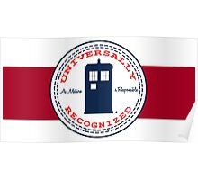 Doctor Who - Converse Logo with Quote Poster
