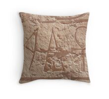 A stands for Ankh  Throw Pillow