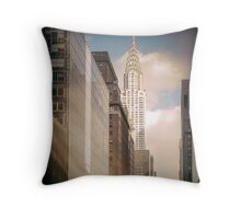 Vintage Empire State Building Throw Pillow