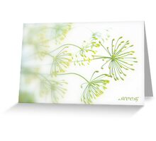 Dill flowers Greeting Card