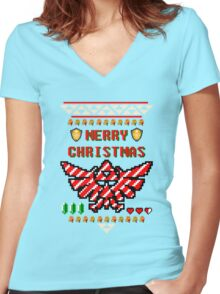 Hyrule Holiday Women's Fitted V-Neck T-Shirt