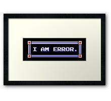 Legend of Zelda - Adventure of Link - I AM ERROR. Framed Print