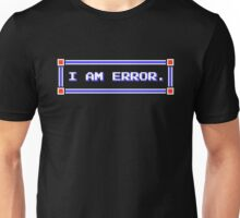 Legend of Zelda - Adventure of Link - I AM ERROR. Unisex T-Shirt