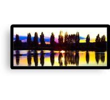Reflective Sunset Canvas Print
