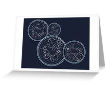 Doctor Who Gallifreyan - We're All Stories quotes Greeting Card