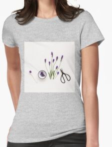 Lavender Womens Fitted T-Shirt