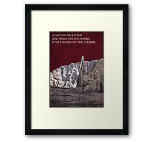 The Two Towers inspired design (3). Framed Print