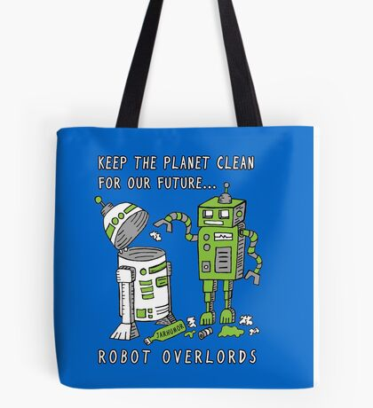 Robot Earth Tote Bag