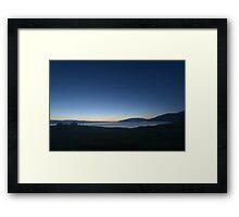 Tranquil Beginnings - Sunrise over Sayram Lake Framed Print