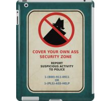 Security Zone iPad Case/Skin